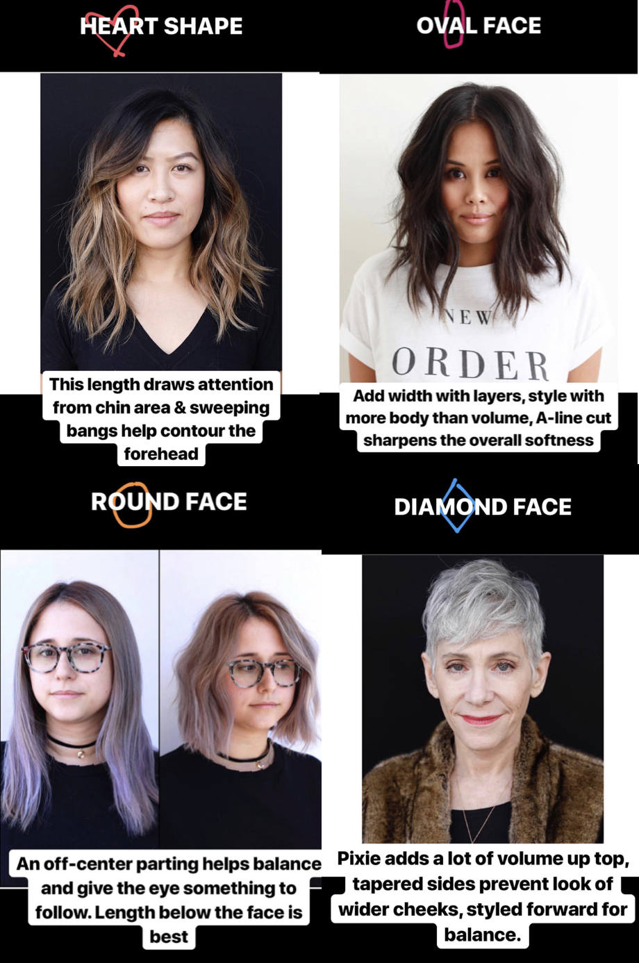 cuts for your face shape - anh co tran