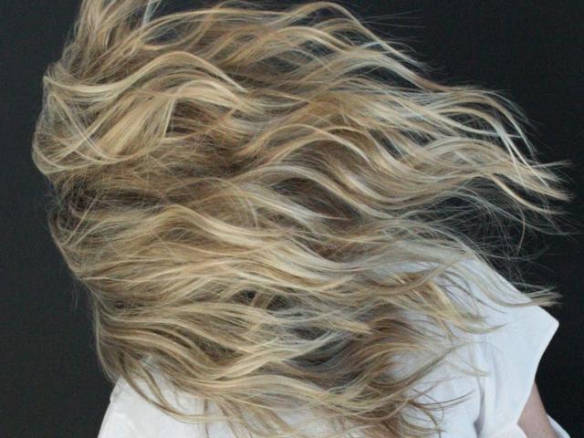 Wind-swept Golden blonde