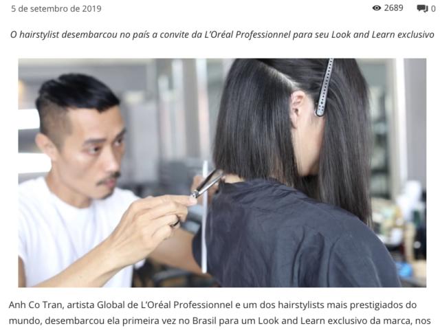 Anh Co Tran traz ao Brasil conceito Lived in Hair